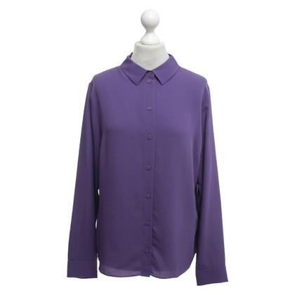Iris von Arnim Silk blouse in purple