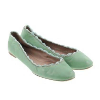 Chloé Green ballerinas