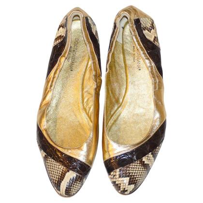 Dolce & Gabbana Python Croco Flats