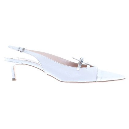 Miu Miu pumps in silver and white