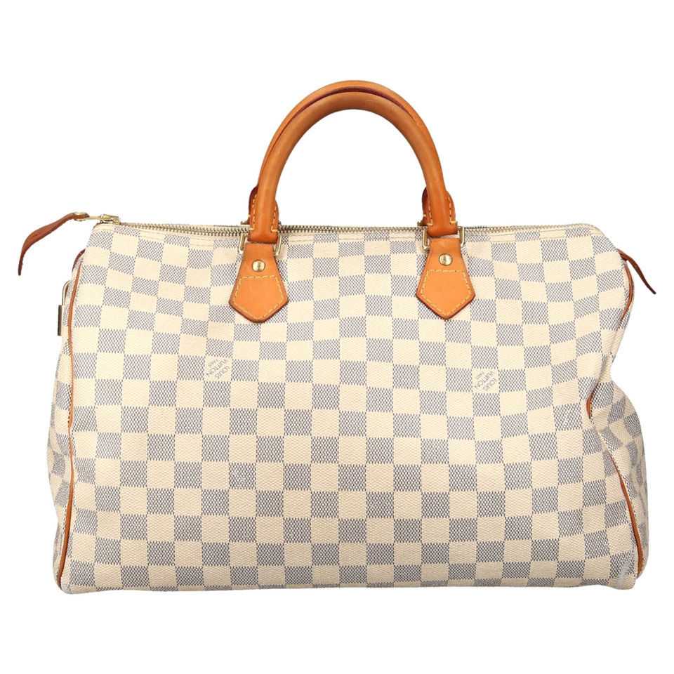louis vuitton speedy 35 damier azur canvas buy second hand louis vuitton speedy 35 damier. Black Bedroom Furniture Sets. Home Design Ideas