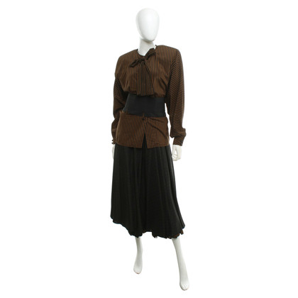 Other Designer Louis Féraud - Costume in Black / Brown