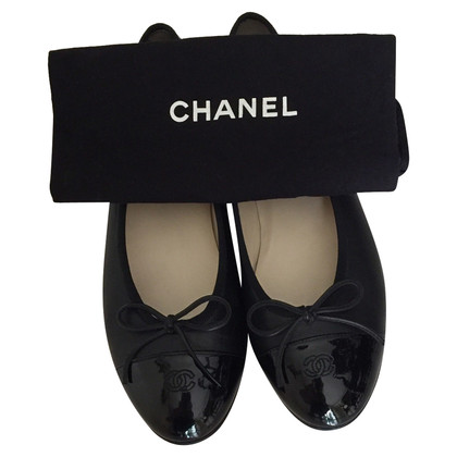 Chanel Uniform Ballerina's in zwart