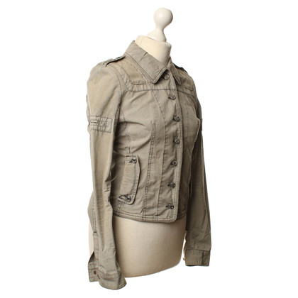 Hugo Boss Bikerjacke in khaki