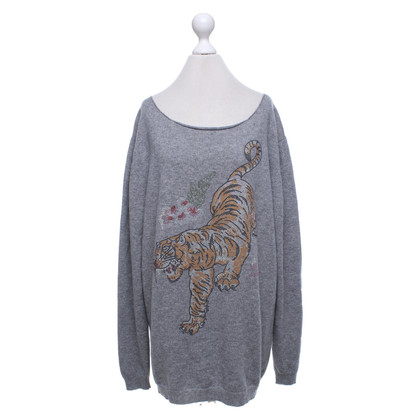 Camouflage Couture Cashmere sweater in grey