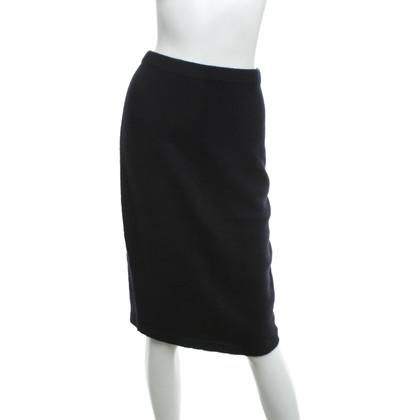 Iris von Arnim Knitted skirt in black