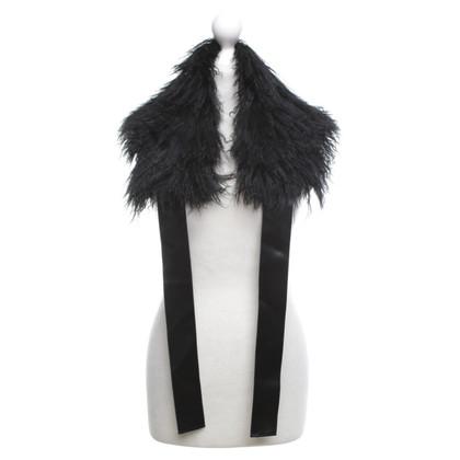 Luisa Cerano Lambskin collar in black