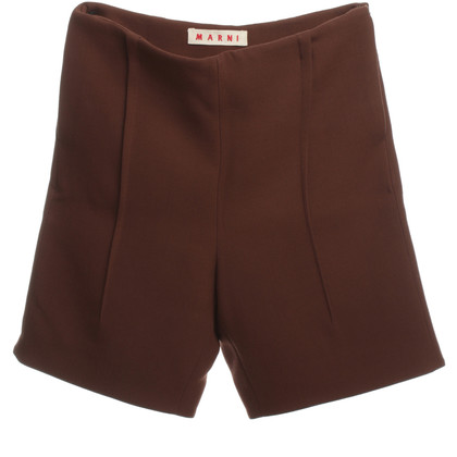 Marni Shorts in Braun/Rot