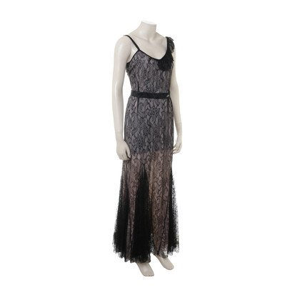John Galliano Asymmetrical lace dress