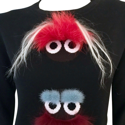 Fendi Pullover mit Monster-Applikation