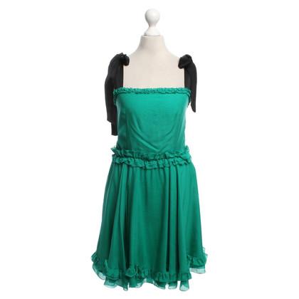 Dolce & Gabbana Silk dress in green