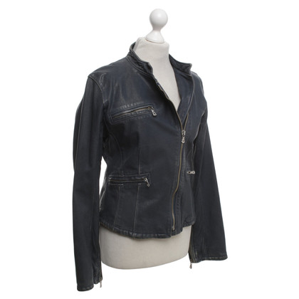 Dolce & Gabbana Leather jacket in blue