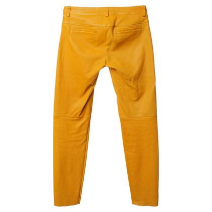 Escada Leather pants in Orange