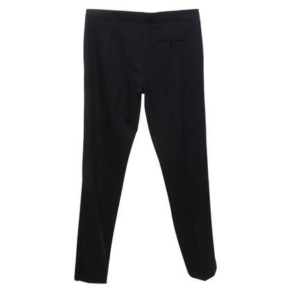 Armani Gekreukte broek in zwart