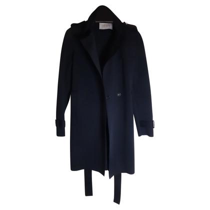 Harris Wharf Navy blue trench coat