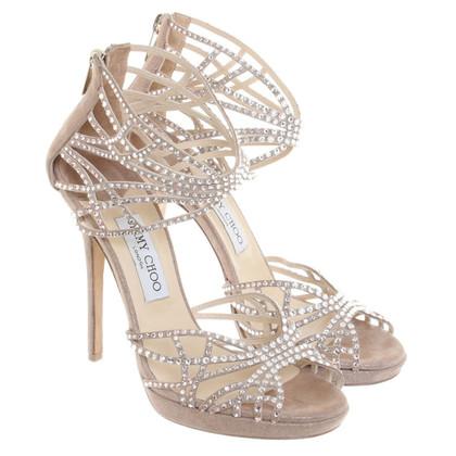 Jimmy Choo Sandals with semi-precious stones
