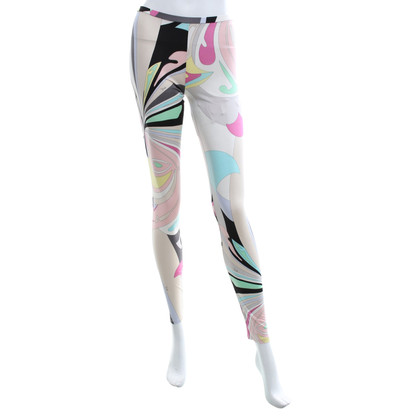Emilio Pucci Silk trousers with pattern