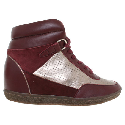 Sandro Wedges in Bordeaux / Gold