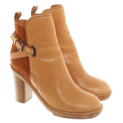 Acne Cognac-colored ankle boots