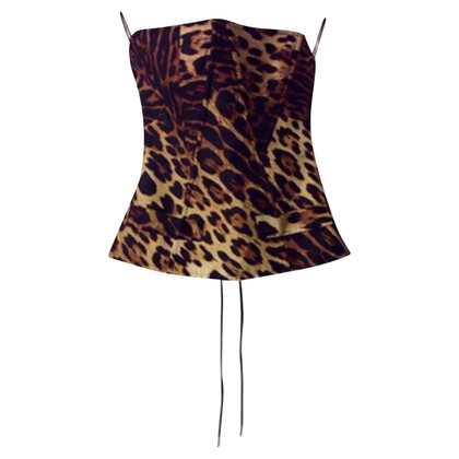 Just Cavalli for H&M corset Leopard