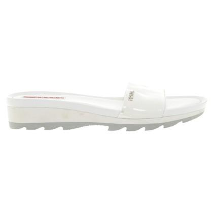 Prada Sandalen in Weiß