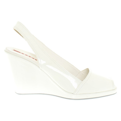 Prada Wedges aus Lackleder