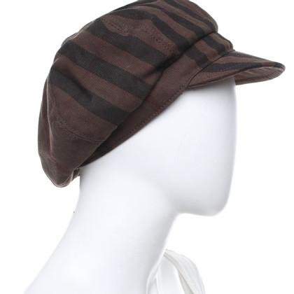 Burberry cappello basca con motivo a quadri