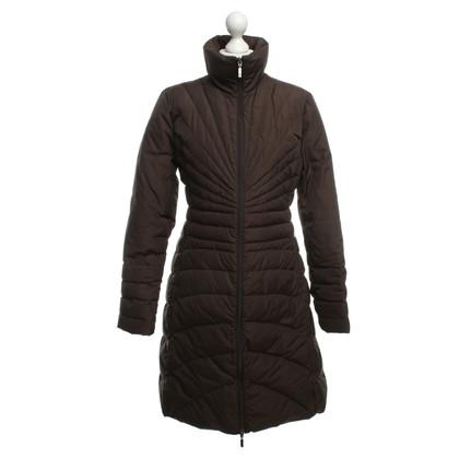 Moncler Giù cappotto marrone scuro