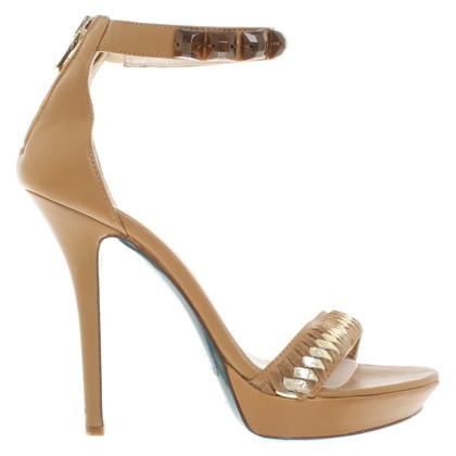 Patrizia Pepe Cognac-colored platform sandals