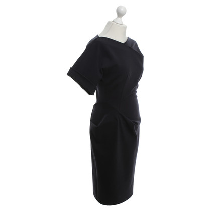 Max Mara Elegante jurk in donkerblauw