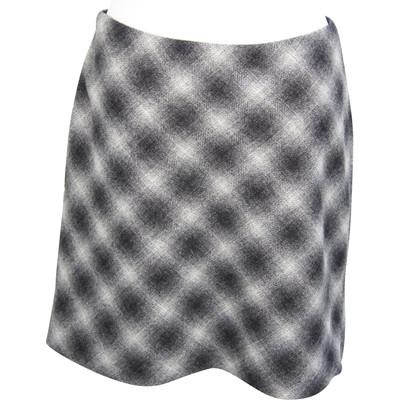 Hobbs Plaid wool skirt in grey