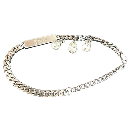Christian Dior Bracelet with rhinestone pendants