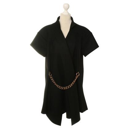 Victoria Beckham Short sleeve coat in black