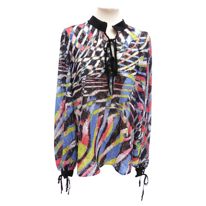 Just Cavalli Top blouse with print