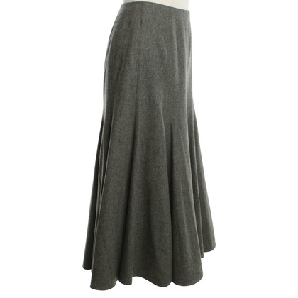 Ralph Lauren Fold wool skirt in gray