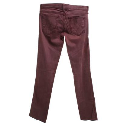 Mother Pantalon en rouge