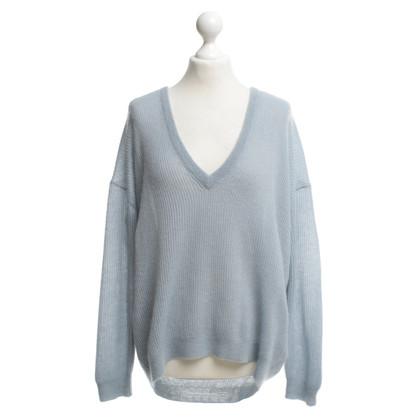 Brunello Cucinelli pull en tricot en bleu clair