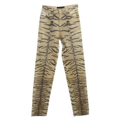 Roberto Cavalli Skinny jeans met animal print