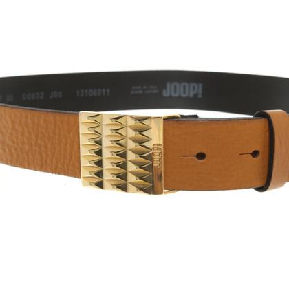 JOOP! Leather Belt in Ocker