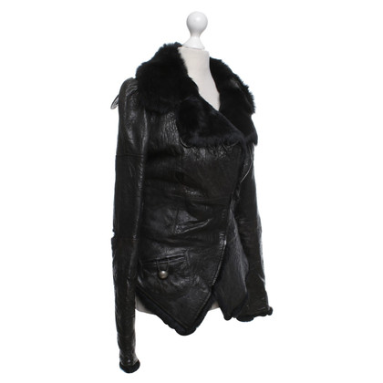Thomas Wylde Leather jacket with fur
