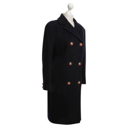 Gianni Versace Coat in donkerblauw
