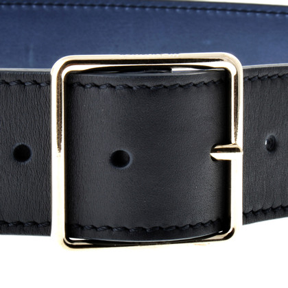 Jil Sander Black blue belt