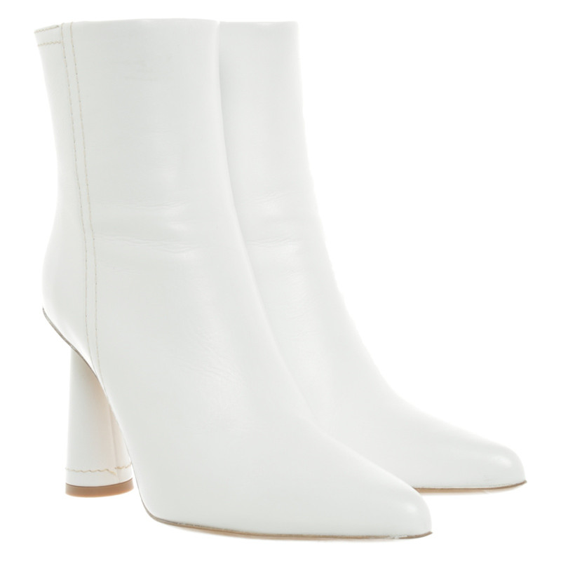 Jacquemus Ankle boots Leather in White