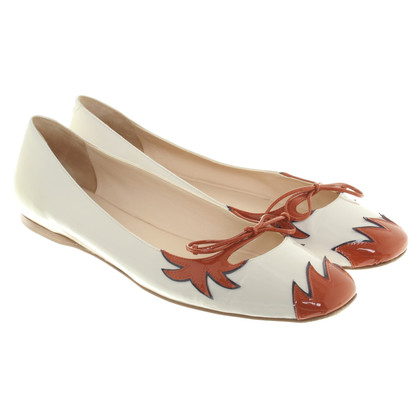 Bottega Veneta Ballerinas in beige / rust red