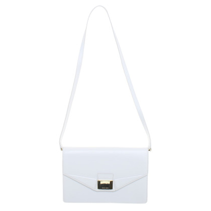 Hugo Boss White leather shoulder bag