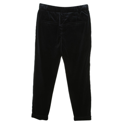 Brunello Cucinelli Fluwelen broek in donkerblauw