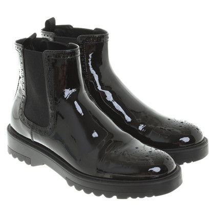 Prada Calzature Donna Vernice Chelsea Boots