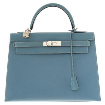 "Hermès ""Kelly Bag 32"" in lichtblauw"