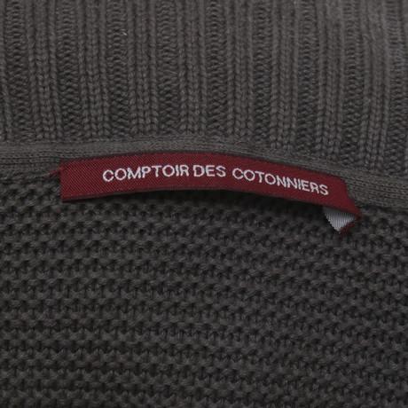 Comptoir des Cotonniers Taupefarbener Strickmantel Taupe Freiraum 100% Authentisch eEJ7r