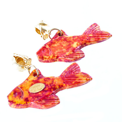 Yves Saint Laurent Earrings in the shape of a fish